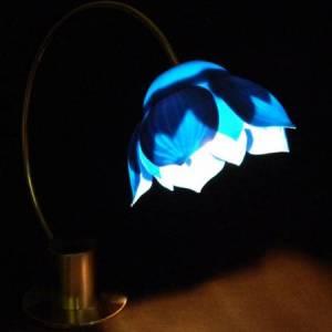 06 blue lotus lamp