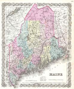 Maine map 1855